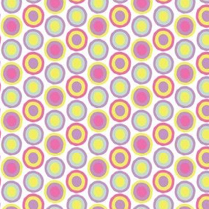 16-15E Pastel Spring Dots Spots Purple Lilac Blue Aqua Yellow Pink White by Miss Chiff Designs