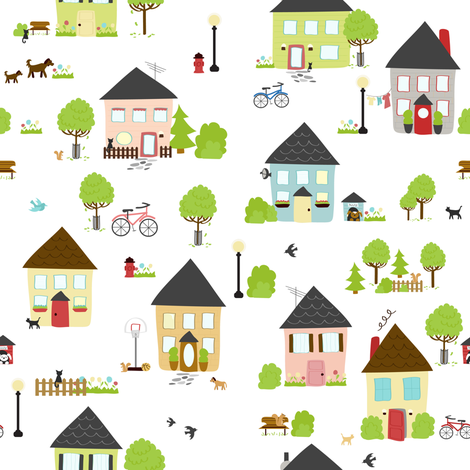 Little Boxes fabric by calobeedoodles on Spoonflower - custom fabric