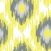 Lemon Tree Fruit Gray Ikat Ethnic Tribal_Miss Chiff Designs