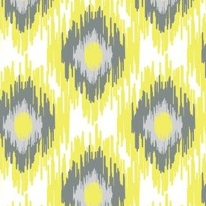 17-07M Modern Spring Ikat Gray Grey Yellow || Lemon Aqua Blue Mist Tribal Home Decor  _  Miss Chiff Designs