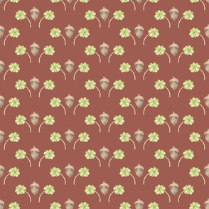 Acorn and Clover Pattern - Lucky Woodlands