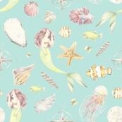 Mermaid Pattern - By the Sea