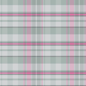 Easter Plaid gray Pink_Miss Chiff Designs