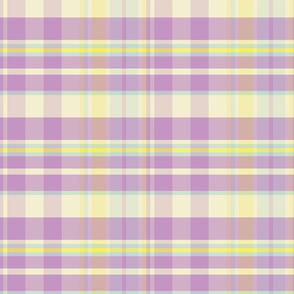 Easter Plaid Lilac Lemon Blue_ Miss Chiff Designs