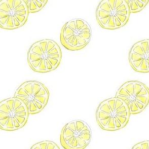 Citrus + Lemon + Yellow + Slices Scatter