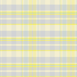 17-07L Pastel Plaid Lemon Yellow || Silver Gray Grey Aqua  Blue Easter Traditional Classic Spring _ Miss Chiff Designs