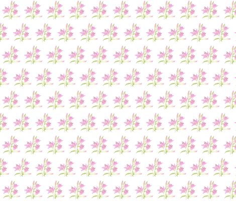 Pink lily small print fabric by betsybarry on Spoonflower - custom fabric