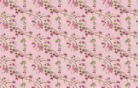 Spring_Blossoms_1 fabric by wildflowerfabrics on Spoonflower - custom fabric