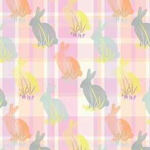 Easter Bunny Plaid Pastel Rabbit Animal_Miss Chiff Designs