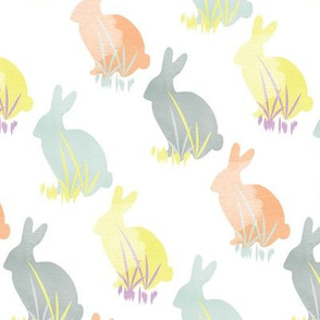 Easter Bunny Rabbit Pastel Watercolor_Miss Chiff Designs
