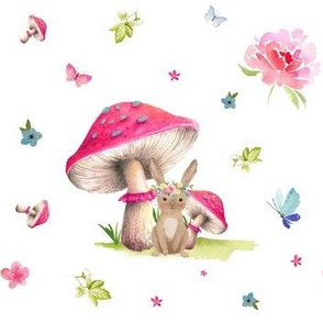 "7"" Mushroom Bunny Home"