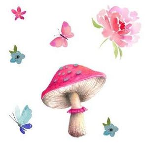 """7"""" Mushroom Floral"""