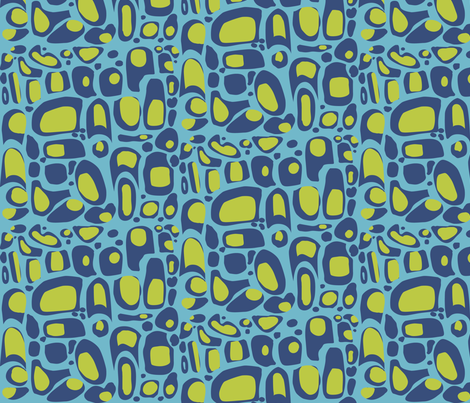 Retro Water fabric by cricketstudioinc on Spoonflower - custom fabric