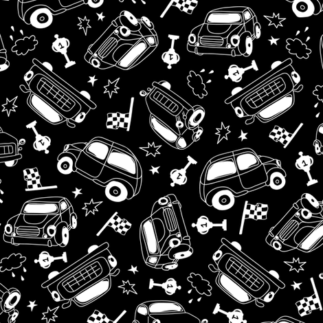 Racing fabric by yuliia_studzinska on Spoonflower - custom fabric