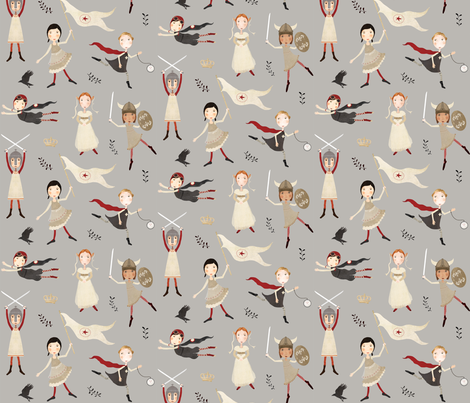 Heroines of history fabric by katherine_quinn on Spoonflower - custom fabric