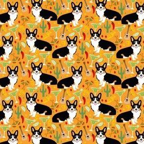 tricolored corgi fiesta fabric  - small size