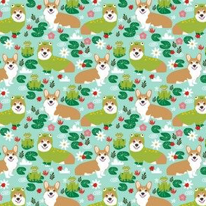 corgi frog fabric cute corgi costume fabric - small size