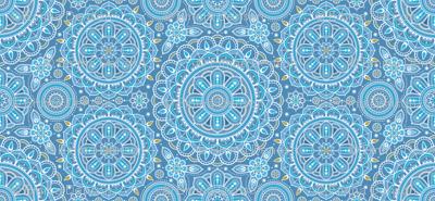 large Blue Mandalas