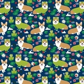 corgi frog fabric cute small size dog design