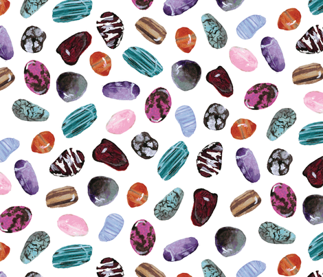 Shiny Stones fabric by lprspr on Spoonflower - custom fabric