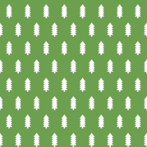 christmas trees fabric, dog coordinate collection - asparagus green