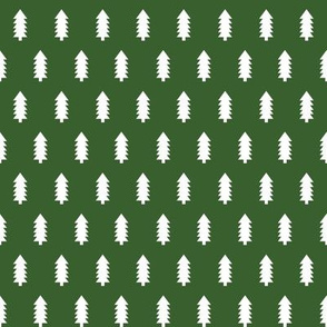 christmas trees fabric, dog coordinate collection - dark green