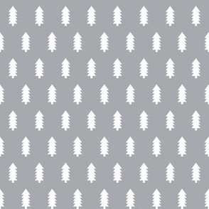 christmas trees fabric, dog coordinate collection - grey