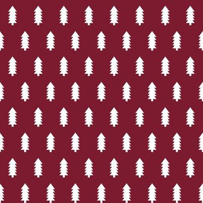 christmas trees fabric, dog coordinate collection - ruby red