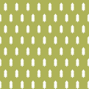 christmas trees fabric, dog coordinate collection - lime