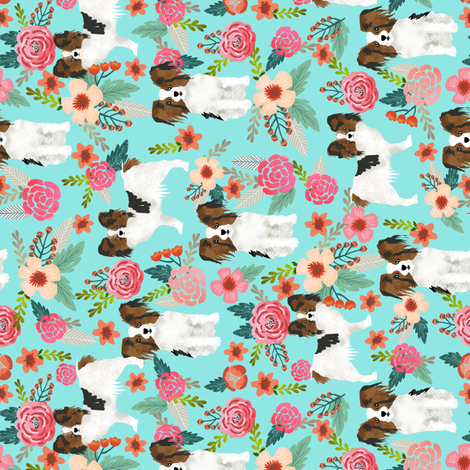 papillon fabric florals and dogs fabric railroad fabric by petfriendly on Spoonflower - custom fabric