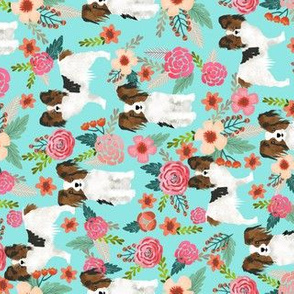 papillon fabric florals and dogs fabric railroad