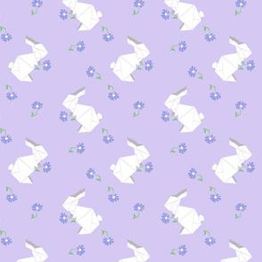 Origami Bunny Purple