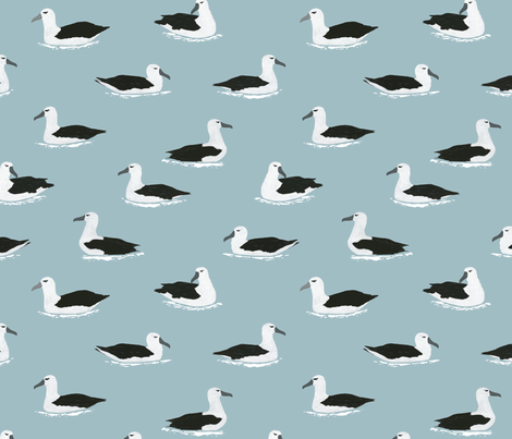 Albatross Pattern fabric by melissa_boardman on Spoonflower - custom fabric