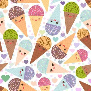 Ice cream cone kawaii