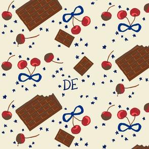 Chocolate Cherry Stars