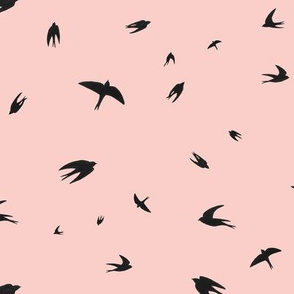 Flying Swallows (pink)
