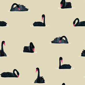 Black Swan Pattern (light)