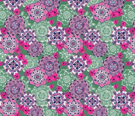 Mandala_medley_pink_green10inch150dpi_shop_preview