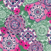 Mandala_medley_pink_green10inch150dpi_shop_thumb