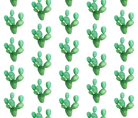 "Cactus Paddle 4"" fabric by hipkiddesigns on Spoonflower - custom fabric"