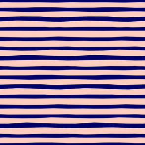 Blue and Pink Horizontal Stripes