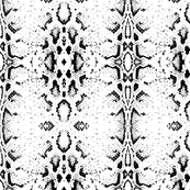 Snake skin texture. Seamless pattern black on white background. 2