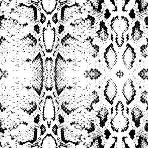 Snake skin texture. Seamless pattern black on white background. 1