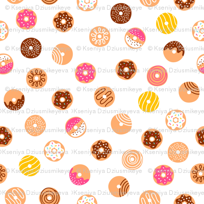 Simple doodle donuts