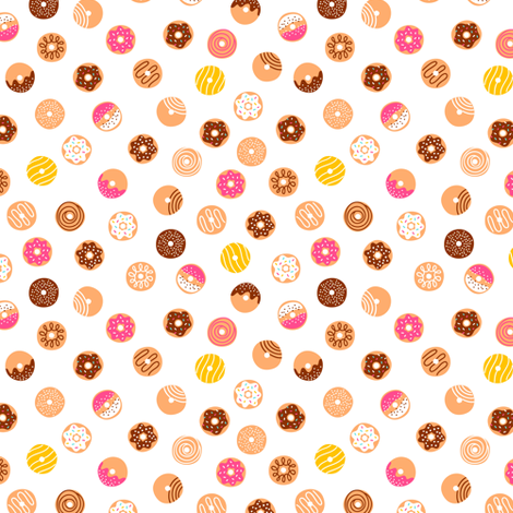 Simple doodle donuts fabric by stolenpencil on Spoonflower - custom fabric