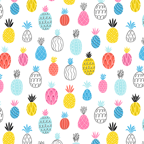 Fun pineapples fabric by stolenpencil on Spoonflower - custom fabric