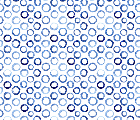 Watercolor circles fabric by katerinaizotova on Spoonflower - custom fabric