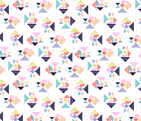 tangram pattern fabric by laura_may_designs on Spoonflower - custom fabric