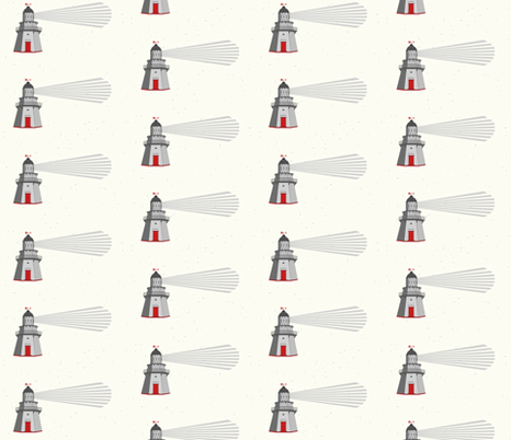 Waipapa Lighthouse fabric by little_pipi on Spoonflower - custom fabric