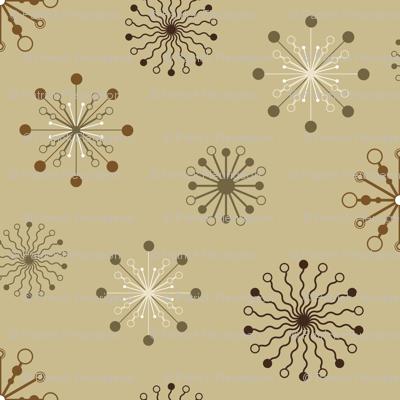Stylized flakes pattern - Brown